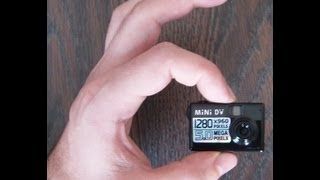 The World's Smallest Motion Detection MiniDV Camera Review And Instructions
