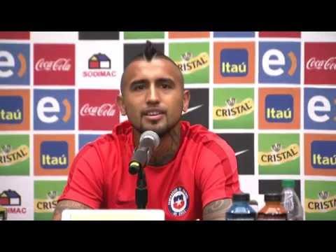 Conferencia de prensa de la Selección Chile con Arturo Vidal