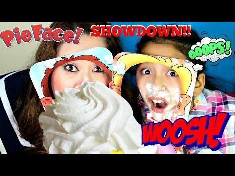 Pie Face Showdown!!! NEW CHALLENGE LOL!! B2cutecupcakes