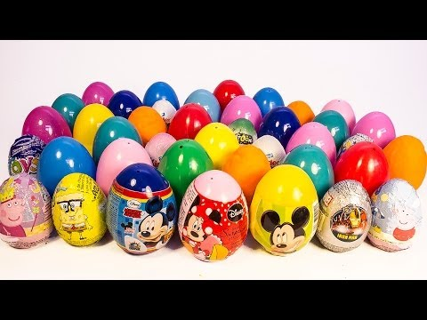 SURPRISE EGGS MICKEY MOUSE MINNIE MOUSE PEPPA PIG FROZEN ANGRY BIRDS PLAY DOH EG
