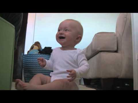 Baby Micah Laughing Hysterically at Laundry Basket