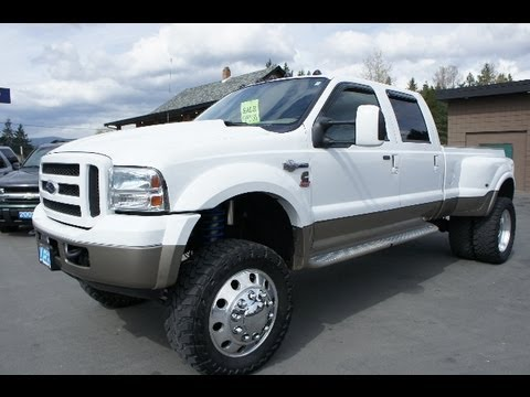 2005 FORD F350 KING RANCH LIFTED CUMMINS TWIN TURBO DIESEL 4X4