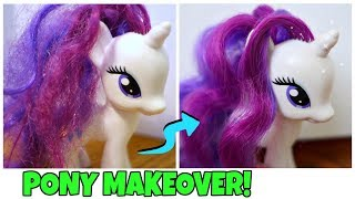 My Little Pony Makeover! How to Fix My Little Pony Hair DIY | Mommy Etc