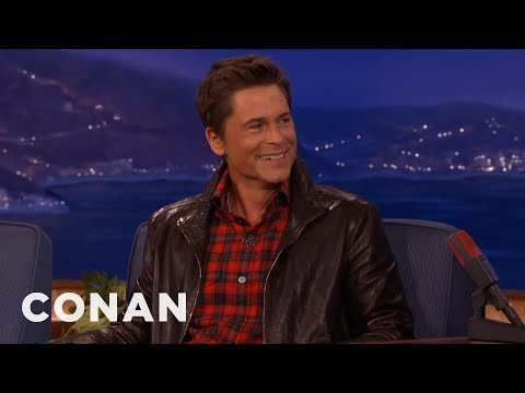 Rob Lowe's Dildo Factory Memories  - CONAN on TBS