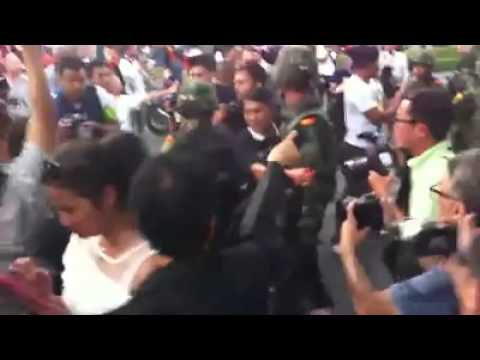 Ordinary Thai citizens resisting the May 2014 Military Coup