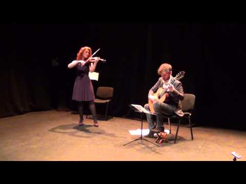 John O'Shea and Anna Jane Ryan playing 'Pastoral'