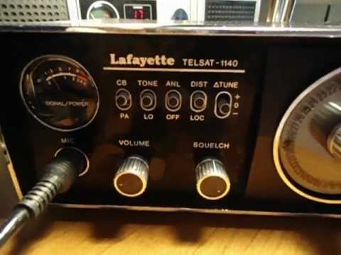 CB RADIO LAFAYETTE  TELSAT 1140 BASE