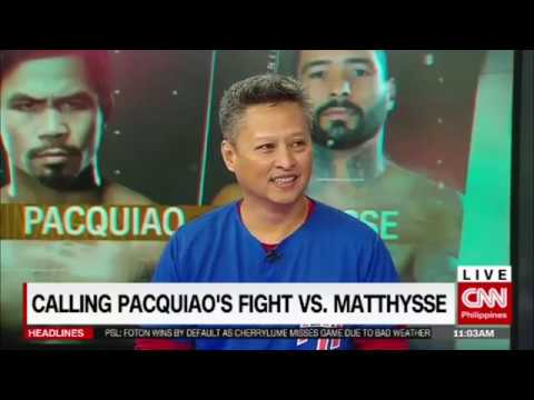 Calling Pacquiao's fight vs. Matthysse