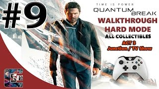 Quantum Break Walkthrough - HARD - All Collectibles ACT 3 Junction / TV Episode