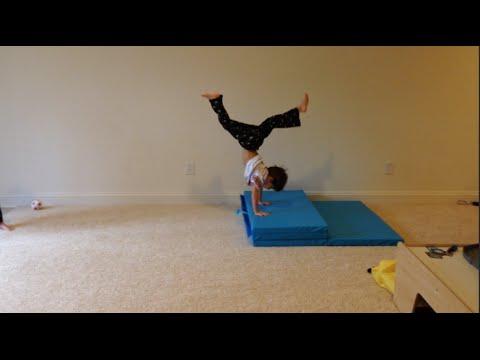 At Home Gymnastics: New Panel Mat Fun!   Simply Liv