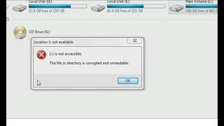 [SOLVED] - The File Or Directory Is Corrupted Or Unreadable - Hard Drive Wont Open (hindi)