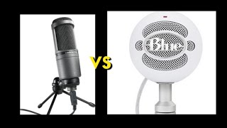 Audio Technica AT 2020 USB VS Blue Snowball USB Microphones