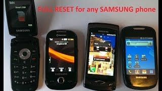Full Reset Any SAMSUNG mobile phone