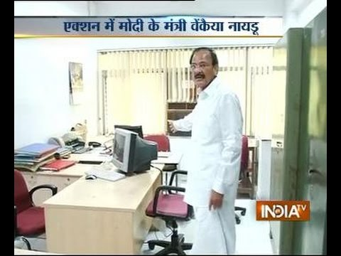 Venkaiah Naidu finds 80 babus missing from Nirman Bhavan