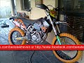 KTM 525 EXC STOLEN 9TH MAY 2011 BLACK WITH ORANGE TYRES - RARE!