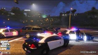 GTA 5 - LSPDFR - EPiSODE 65 - LET'S BE COPS - CITY PATROL (GTA 5 PC POLICE MODS) TOO SLEEPY