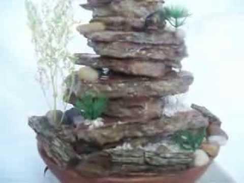 Fuente de agua con piedras armon a estilo youtube - Fuentes de piedra ...