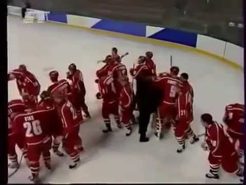 Хоккей. Беларусь 4-3 Швеция. Шайба Копатя..mp4