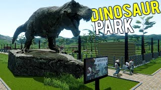 BUILDING AND OWNING A DINOSAUR THEME PARK! Jurassic Park Simulator - Mesozoica Early Access Gameplay