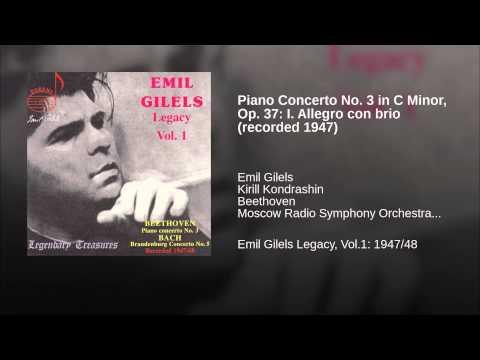 Piano Concerto No. 3 in C Minor, Op. 37: I. Allegro con brio (recorded 1947)