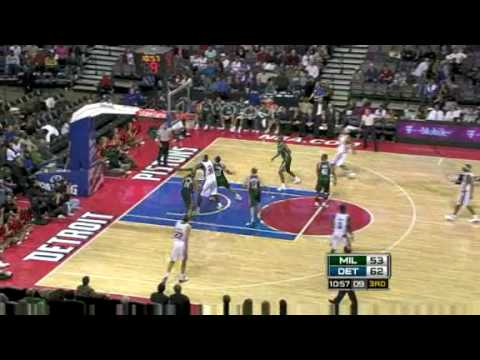 NBA Season 08/09 - Milwaukee Bucks @ Detroit Pistons