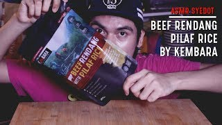 ASMR : BEEF RENDANG WITH PILAF RICE BY KEMBARA (EATING SOUND)