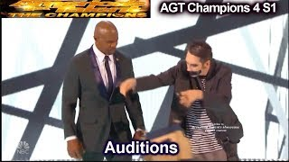 Tape Face Gets Terry Crews to Striptease Audition | America's Got Talent Champions 4 AGT