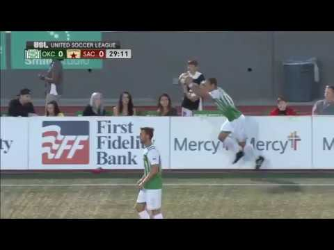 Front flip throw in leads to an overhead kick goal! OKC vs. SAC