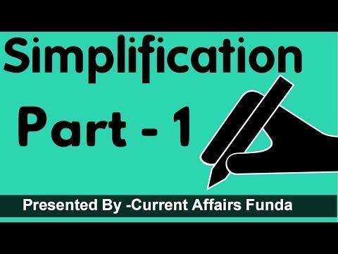 Simplification Maths part 1( Detailed Explanation for SSC CGL ,CSAT,SBI PO,Railway,NDA,PCS,MAT) thumbnail