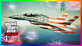 Happy 4th Of July 2020 Update In GTA 5 Online....FREE Vehicles, Independence Day DLC Rewards & MORE!