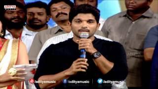 Allu Arjun Speech - Pilla Nuvvuleni Jeevitham Audio Launch