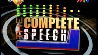 Complete Speech - 28th September 2015
