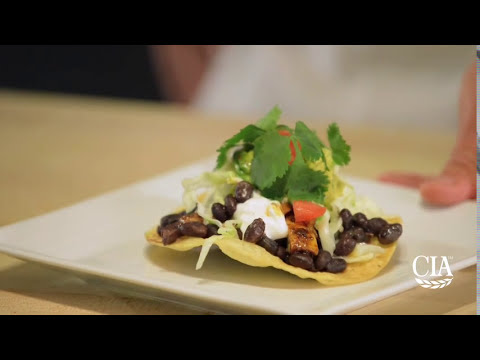 Tostadas with Black Beans, Chicken, and Avocado