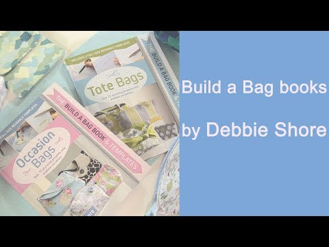 Giveaway! And how to use the templates from my Build a Bag books by Debbie Shore