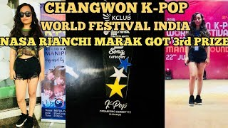 Rianchi Marak got 3rd position in CHANGWON K-POP WORLD FESTIVAL