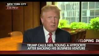 Donald Trump Says Neil Young is Hypocrite and to Sue Univision after Backing out of Miss USA