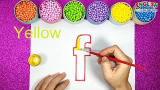 How To Draw F and f For Anphabet   English Color Kids