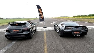 DRAG RACE! CORVETTE GRAND SPORT VS MERCEDES A45 AMG!!