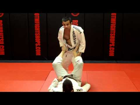 Jiu Jitsu Techniques - Leg Drag Guard Pass / Foot Lock Image 1