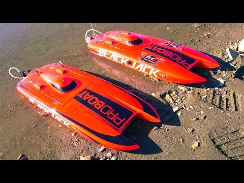 RC ADVENTURES - 4s/6s Lipo Impulse 31 Deep-V & Dual Blackjack 29 Catamarans - Radio Control BOATiNG!