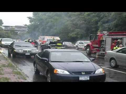 Chelsea accident car vs car vs bus 6 18 09 youtube for Car craft athens ga