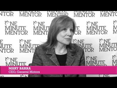 Hearst One Minute Mentor: Mary Barra on Conflict