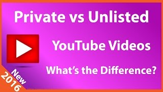 What is the Difference between Private & Unlisted YouTube Videos?