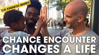 Stranger helps homeless single dad turn his life around