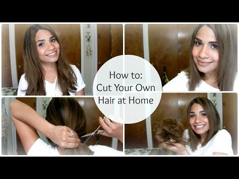 How to: Cut Your Own Hair at Home ♥ A-Line Bob
