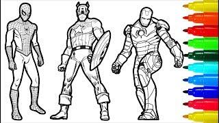 Spiderman Iron Man Captain America Wolverine Superman Coloring Pages   Superheros Coloring Pages