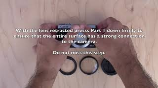 01. How to attach filters to the Canon G7X Mark III, Mark II & G7X, G5X Mark II & G5X.