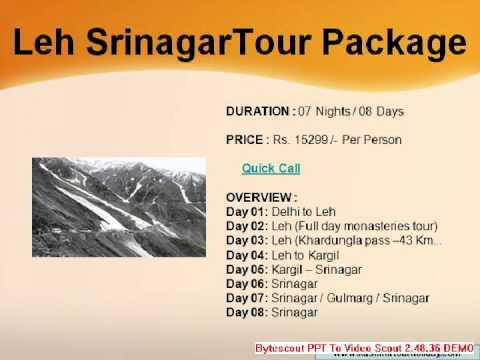 best of leh and srinagar holidays