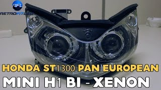 Honda ST1300 Pan European Mini H1 Bi-xenon projector retrofit