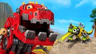 Механические Динозавры Роботы - Строительные Машины ДИНОТРАКС. Обзор игры для детей DINOTRUX